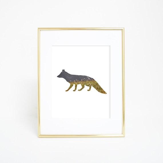 Mountain Fox Art, Woodland Prints, Digital Prints, Fox Art, Fox Print, Printable Art, Fox Wall Prints, Wall Decor, Colorado Wall Art