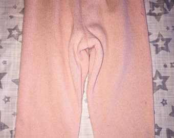 100% Cashmere Pale Pink Baby Leggings Longies Pants Longies - Size 3-6M