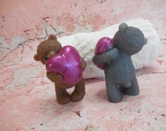 Teddy Bear Soap-Heart Soap-Valentines Day-Bear Soap-Animal Kids Party Favor-Anniversary Gift-Handmade Glycerin Soap-Decorative Guest Soap