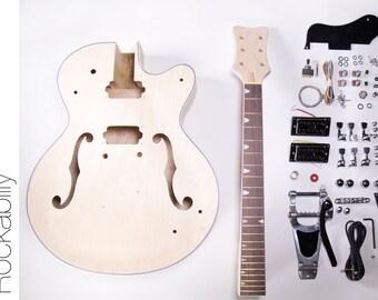 DIY Electric Guitar Kit - Hollow Body Build Your Own Guitar Kit