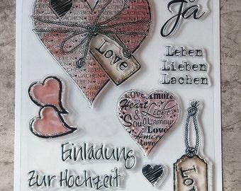 Clear stamp set (Love)German