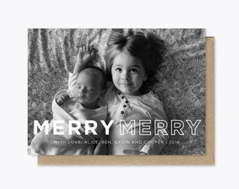 Merry Merry Holiday Card printable