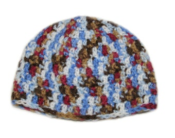 Crochet Baby Beanie (0-6 months), Crochet Baby Hat, Multicolored Beanie, Baby girl hat, baby boy hat, winter hat