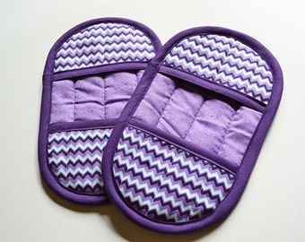 Purple Oven Mitts, Purple Pot Holders, Oven Mitts, Pot Holder Set, Kitchen Decor, Oven Gloves, Pot Holder, Kitchen Accessories, Oven Mitt