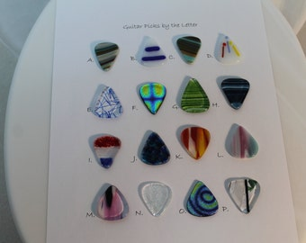 Fused Glass Guitar Picks