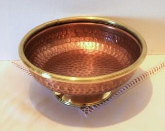 Fruit bowl fruit bowl//copper craft centerpiece. Handmade. Size small