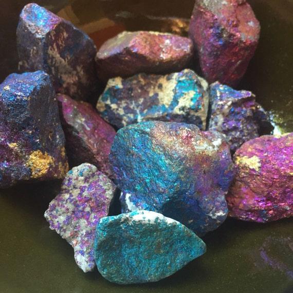 Small Reiki Love Infused Spiritual Junkies Peacock Ore Chalcopyrite Healing Crystal and Gemstone (single stone)