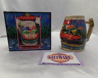 Anheuser Busch Budweiser Character Series Collector's Edition Ceramic Beer Frog Stein Mug Bud-Weis-Er  CS289- Ceramarte Brazil- New in box!