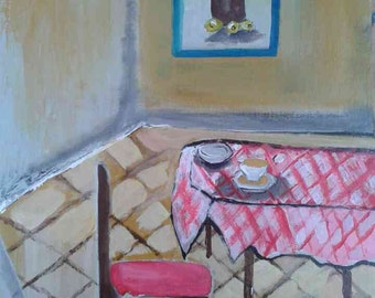 Acrylic painting of the Dining room