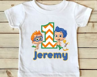 Bubble Guppies Birthday Shirt- Bubble Guppies Shirt - Birthday Shirt - Boys Birthday Shirt - Personalized Shirt - Custom Shirt-