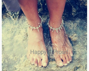 Also Larger size anklet/ Antique Tibetan silver/ Bohamian /Barefoot jewelry / Gypsy/ New Hippie Price is for one item.