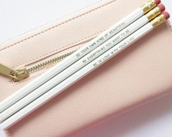 XO Range - Gold Foil Pencil Set Three