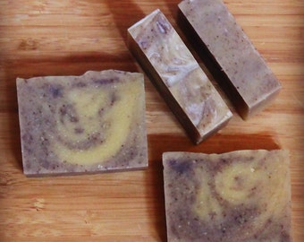 PALM-FREE | Lavender Ylang-Ylang Soap | Cocoa Butter Soap | 100% Natural Soap | Cold Processed Soap | Vegan 4 oz-4.5 oz