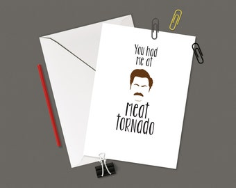 Meat Tornado Greeting Card