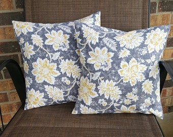Yellow Flowers 14x14 Pillow Cover Set