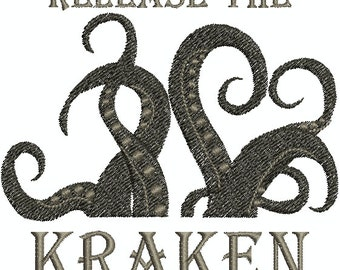 Release the Kraken - Digital Embroidery Design