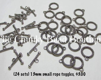 13mm small rope toggles (24 sets)