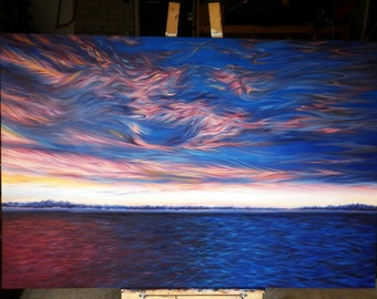 Fire in the Sky Oil Painting