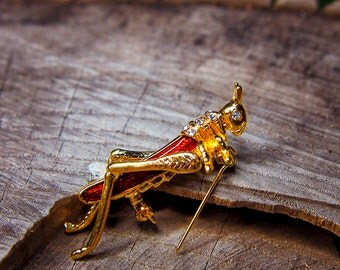 Grasshopper Brooch #5439