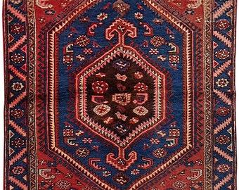 Persian Carpet Handmade 4' x 6' Hamadan Nomad Weavers Rug
