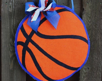 Burlap Basketball Door Hanger