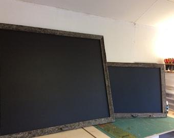 30x24, Magnetic chalkboard,  framed Chalkboard, large chalkboard, rustic alberta barnwood, magnetic blackboard, recyled barnwood weathered.