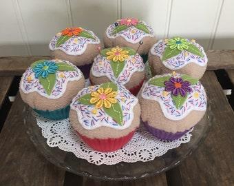 Cupcake Pincushion or Paperweight