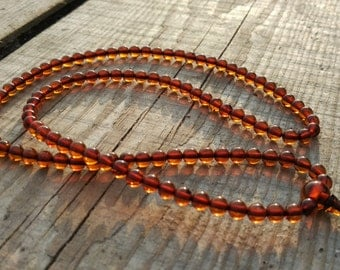 5 Small: 108 beads baltic amber mala for meditation (size Ø5 colour 5)