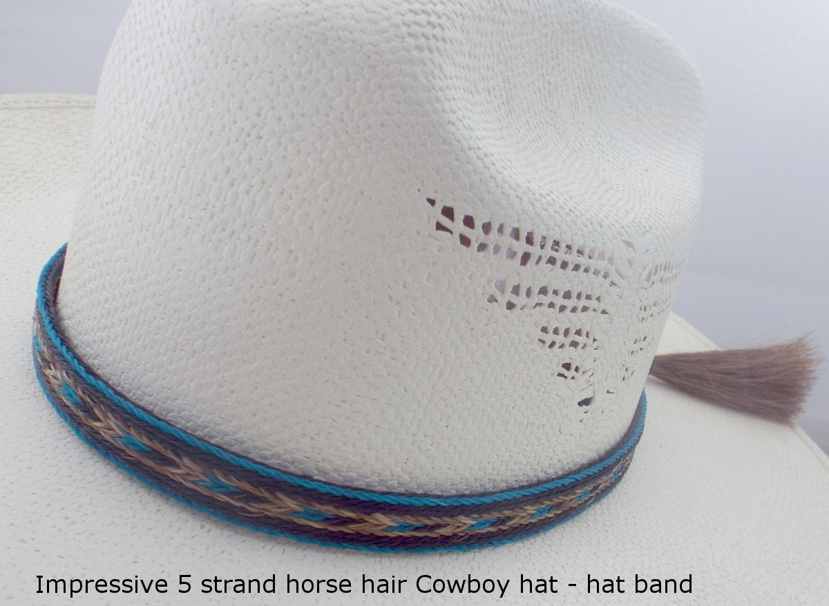 Horsehair hat band BOLD Cowboy hat horsehair hat band