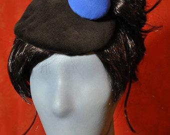 Big Blue Button Little Hat