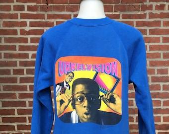 Vintage Steve Urkel raglan Urkelvision 1991 sweatshirt crewneck. Womens sz small, mens XS