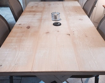 Driftwood X Frame Dining Table