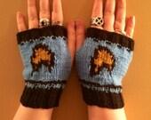 Star Trek inspired Starfleet Blue Fingerless Gloves