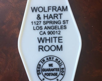 Buffy Vampire Slayer inspired WOLFRAM & HART keytag