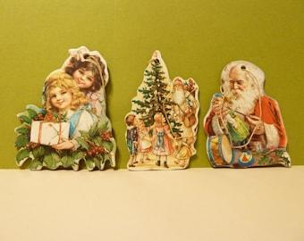 Vintage, Cardboard Ornaments