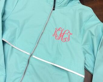 Charles river womens rain jacket-monogrammed
