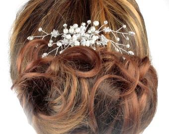 Pearl Wedding Hair comb,, Hair Ornament, Bridal Hair comb, Haircombs for brides, Crystal Hair comb