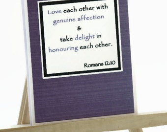 Love Each Other Wedding Card, Handmade Wedding Card, Handmade Anniversary Card, Handmade Valentine's Day Card, Bible Verse Card