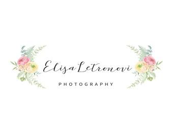 Photography logo watermark, floral logo, photography floral logo, photography logo, premade logo, premade photography logo, business logo