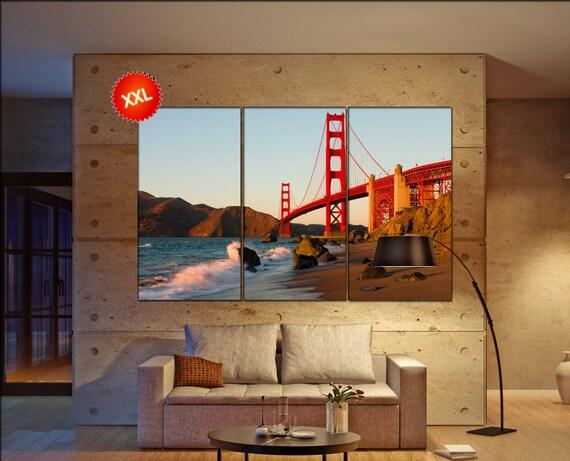 Golden Gate  canvas wall art  Golden Gate  wall decor canvas wall art  Golden Gate  large canvas wall art wall decoration