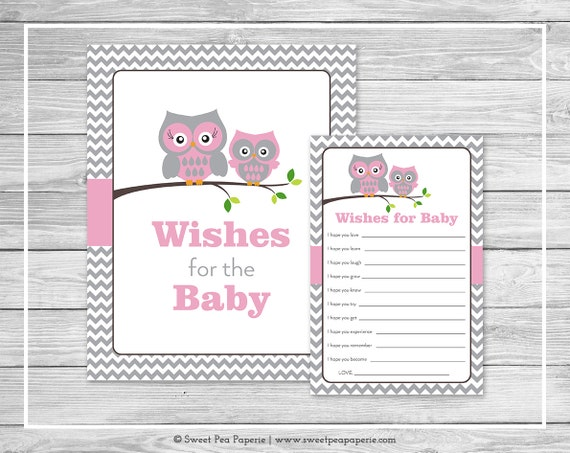 baby shower wishes for baby cards pink owl baby shower baby wishes