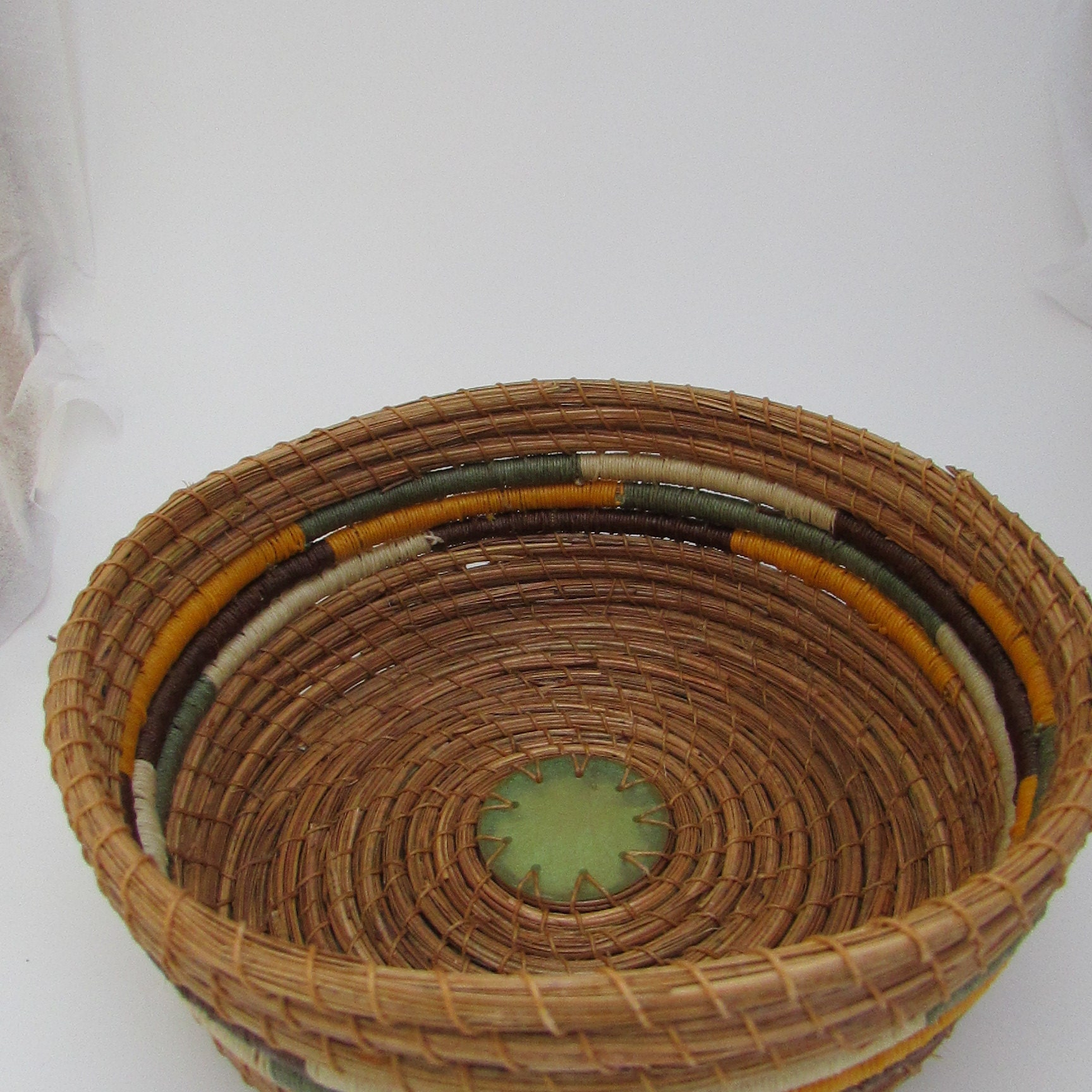 Handmade Pine Needle Baskets : Handmade pine needle baskets by kandapineneedlebskt on etsy