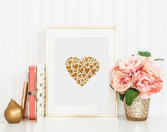 Heart of Gold  - 8x10 Digital Art Print