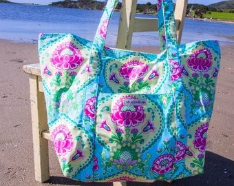 Large Beach Bag/tote - Lotus