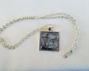STORM TROOPER, Star wars necklace, Storm trooper pendant, star wars pendant necklace, glass pendant, star wars fan necklace,