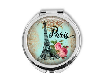 Paris Pocket Mirror, Compact Mirror, Purse Mirror, Pocket Mirror, Paris