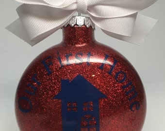 Personalized Glass Disc Ornament- 4 inch
