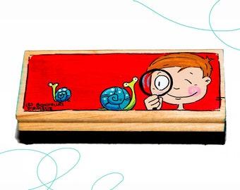 Brosse tableau, garçon, escargots, cadeau, enseignante, primaire