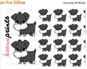 ON SALE A110 | Schnauzer Dog Puppy Repositionable Stickers Perfect for Erin Condren Life Planner, Filofax, Plum Paper, Happy Planner or scra