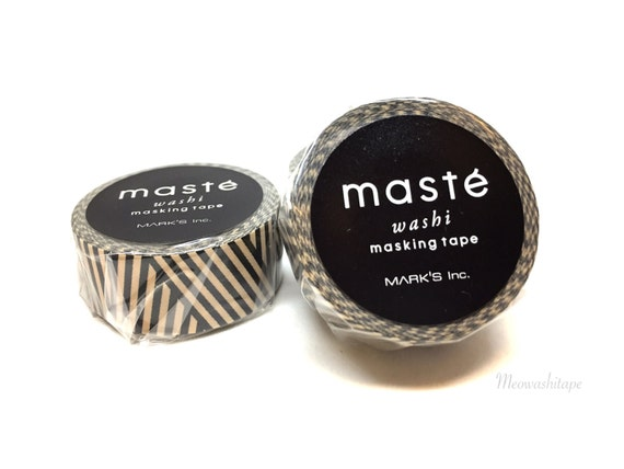 marks maste multi schwarz multi streifen washi tape t00706. Black Bedroom Furniture Sets. Home Design Ideas